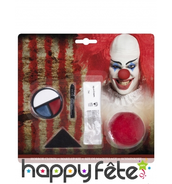Set de maquillage clown tueur