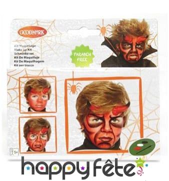 Set de maquillage de diable à l'eau pour enfant