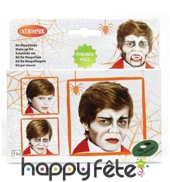 Set de maquillage de vampire pour enfant, à l'eau