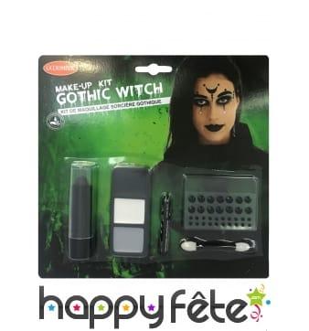Set de maquillage gothique de sorcière pour femme