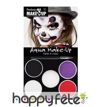 Set de maquillage halloween à l'eau pour enfant