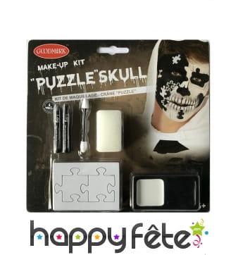 Set de maquillage puzzle et tête de mort