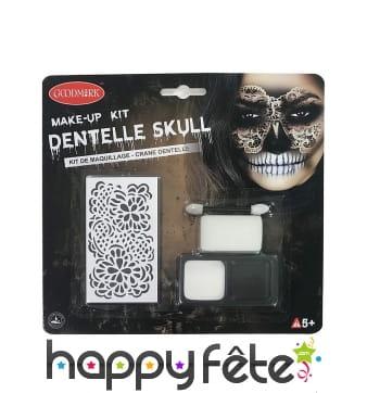 Set de maquillage squelette regard de dentelles