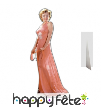 Silhouette de Marilyn Monroe longue robe saumon