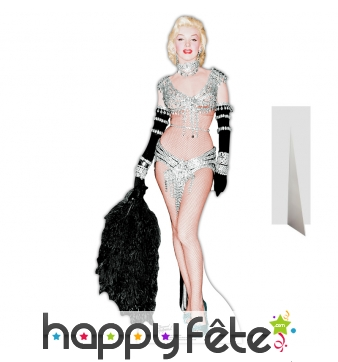 Silhouette de Marilyn Monroe sexy en strass