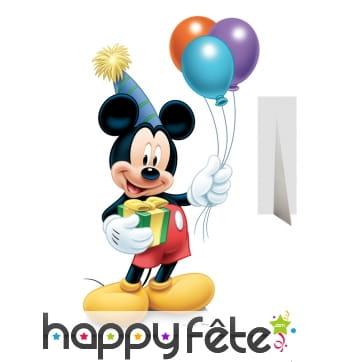 Silhouette de Mickey anniversaire en carton