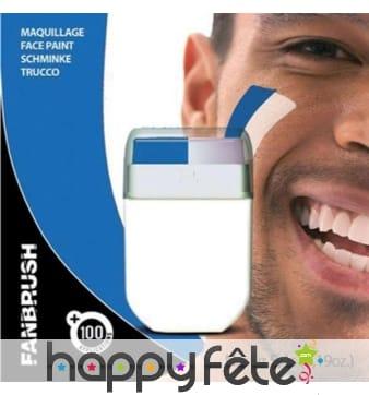 Stick de maquillage bleu et blanc