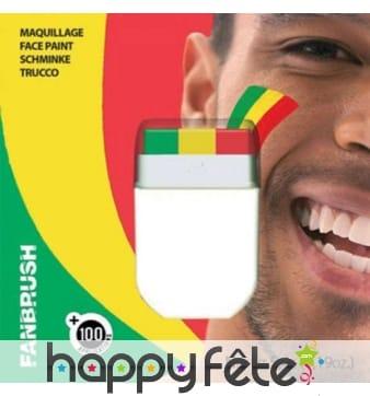Stick de maquillage drapeau panafricain