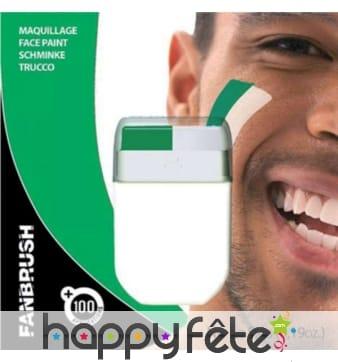 Stick de maquillage vert et blanc