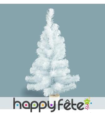 Sapin de Noël blanc irisé de 90cm