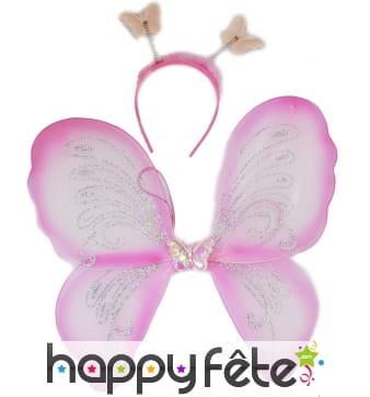 Set de papillon rose pour adulte