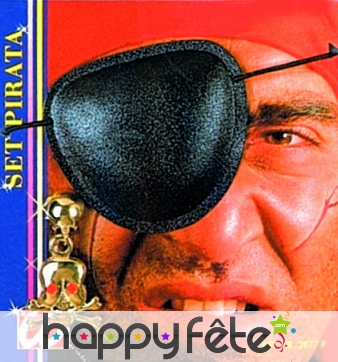 Set de pirate avec cache oeil et boucle d'oreille