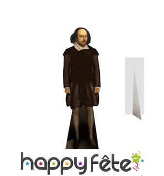 Silhouette de Shakespeare en carton plat