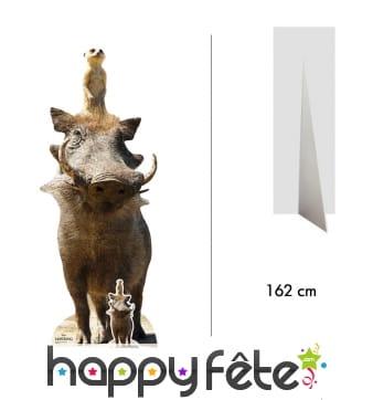 Silhouette de Timon et Pumba, taille réelle