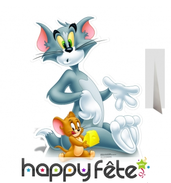 Silhouette de Tom et Jerry en carton