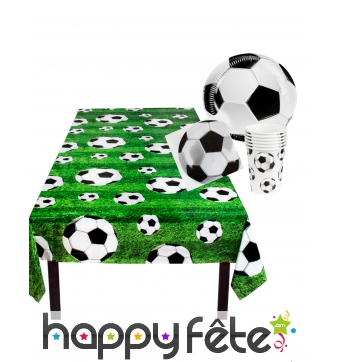 Set de vaisselle jetable football