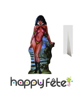 Silhouette de Vampirella en carton