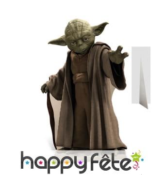 Silhouette de Yoda en carton