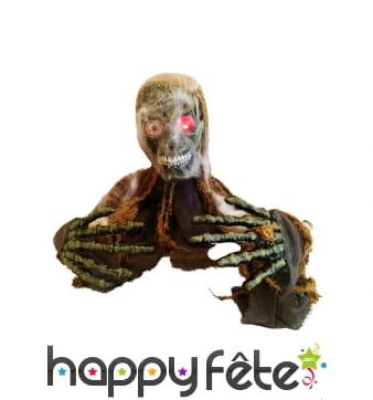Statue de zombie sonore et mobile