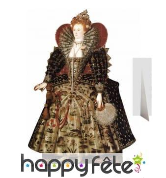 Silhouette Elizabeth 1 d'Angleterre en carton plat