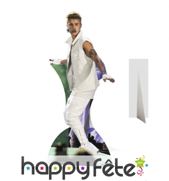 Silhouette en carton de Justin Bieber en concert