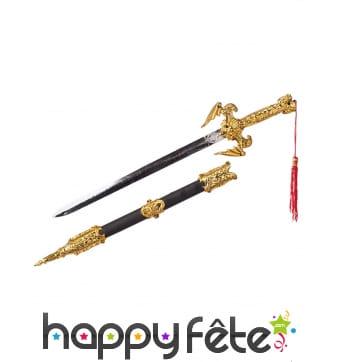 Sabre et fourreau de Ninja couleur or 50cm