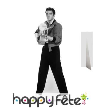 Silhouette Elvis Presley jeune avec sa guitare