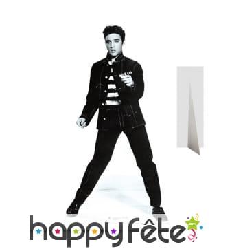 Silhouette Elvis Presley rock noir et blanc