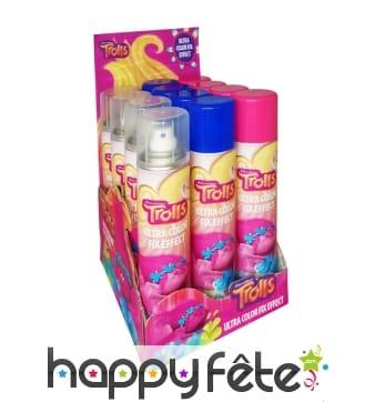 Spray fixateur coloré trolls de 200 ml