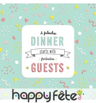 Serviettes Fantastics Guests