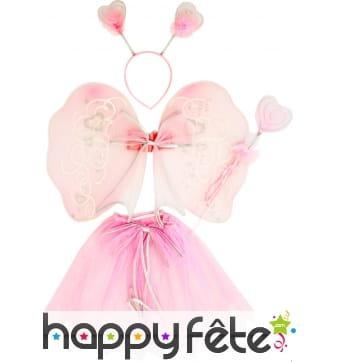 Set fée rose pour enfant