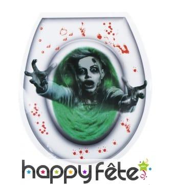 Sticker femme zombie pour lunette de WC