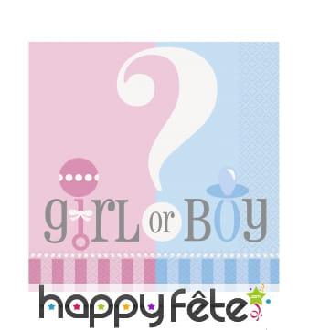Serviettes Girl or Boy