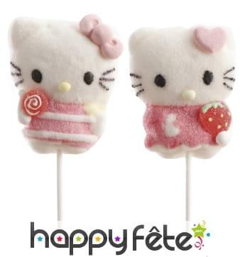 Sucettes Hello Kitty à la guimauve