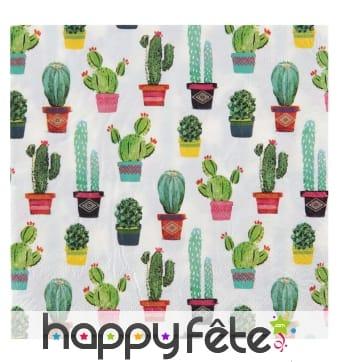 Serviettes imprimées de motifs thème Mexique