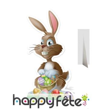 Silhouette lapin de Pâques en carton plat