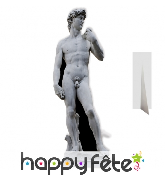 Statue le David de Michel-Ange en carton plat