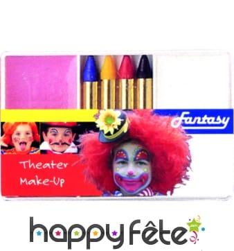 Set maquillage clown blanc