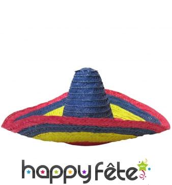 Sombrero mexicain coloré pour adulte
