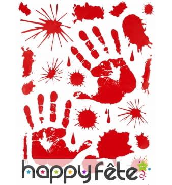 Stickers mains en sang et taches