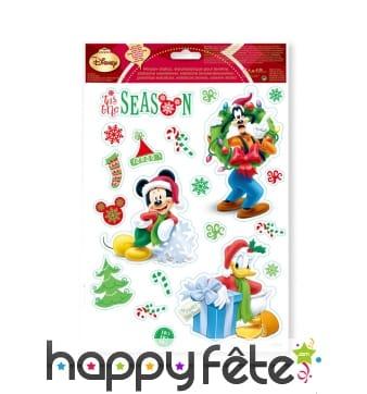 Stickers Mickey électrostatiques, Noël