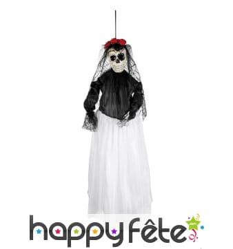 Squelette mariée jour des morts à suspendre