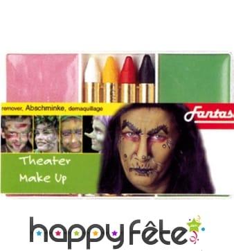 Set maquillage sorcière verte