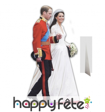 Silhouette mariage William et Kate taille réelle