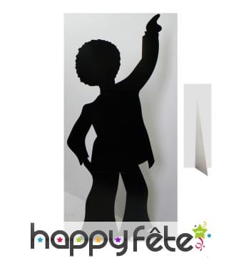 Silhouette noire danseur disco en carton