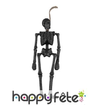 Squelette noir pailleté décoratif