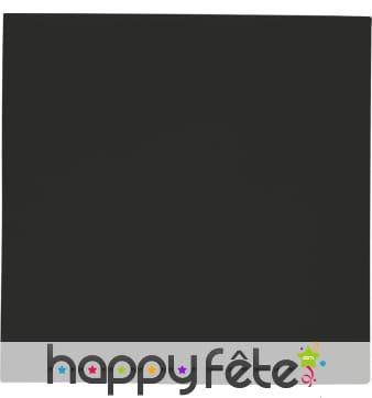 Serviettes noires unies, 2 plis de 33 x 33 cm