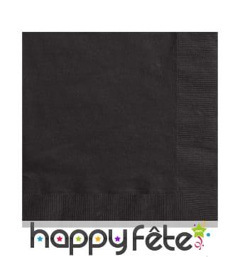 Serviettes noires unies en papier