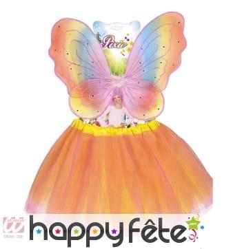 Set orangé de papillon pour enfant