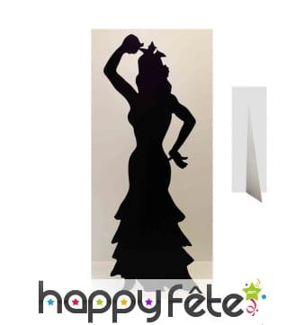 Silhouette ombre de danseuse de flamenco